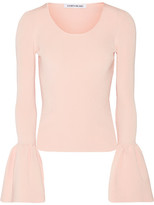 Elizabeth and James Willow Ribbed-knit Top - Blush