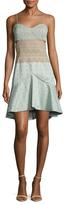 Jonathan Simkhai Bonded Lace Bustier Flared Dress