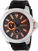 "BOSS ORANGE Men's 1513011 ""New York"" Stainless Steel Watch with Silicone Band"