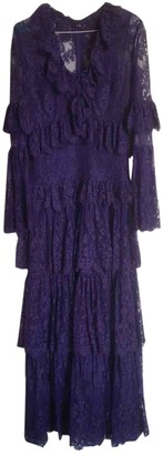 Elie Saab Purple Lace Dress for Women