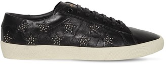 Saint Laurent Leather Sneakers W/studded Stars
