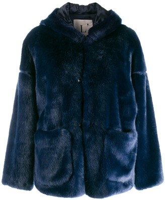 L'Autre Chose Faux Fur Short Jacket
