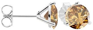 V3 Jewelry Women's Earrings Brown - 0.4-tw Champagne Diamond & Sterling Silver Stud Earrings