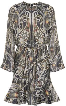 Chloé Printed silk-blend dress
