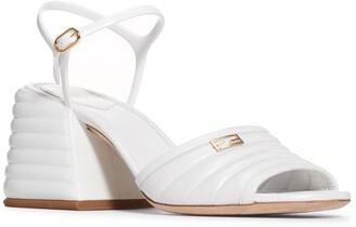 Fendi Promenade Ankle Strap Block Heel Sandal
