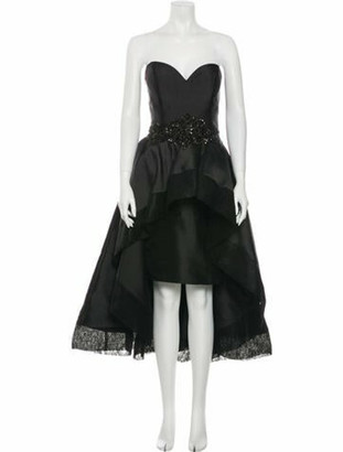 Jovani Strapless Midi Length Dress Black