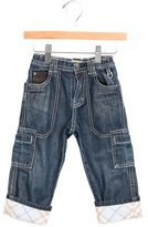 Burberry Boys' Nova Check-Paneled Straight-Leg Jeans