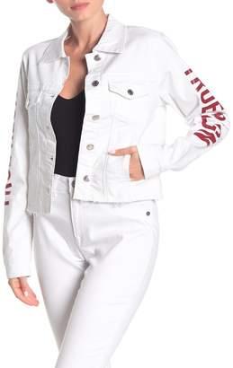 True Religion Logo Fashion Trucker Jacket