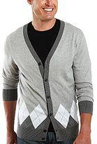 JCPenney JF J. Ferrar® Argyle Cardigan Sweater