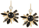 INC International Concepts M. Haskell for Gold-Tone Jet Stone Fan Burst Drop Earrings, Only at Macy's