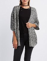 Charlotte Russe Marled Open Front Dolman Cardigan