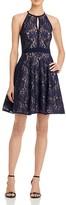 Aqua Lace Fit-and-Flare Dress
