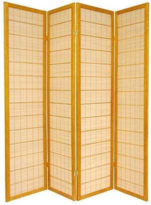 Oriental Furniture 6 ft. Tall Kimura Shoji Screen - 4 Panel
