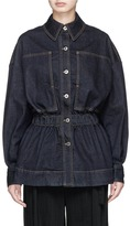 Stella McCartney Peplum hem raw denim jacket
