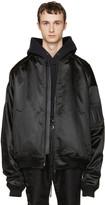 Juun.J Black Oversized Bomber Jacket