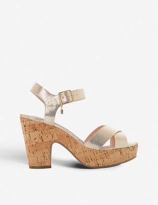 Dune Iylene metallic platform sandals