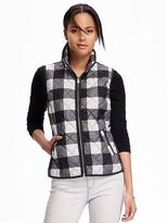 Old Navy Quilted Plaid Vest for Women