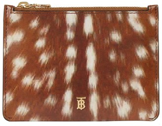 Burberry Leather Deer Print Pouch