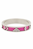 House Of Harlow Aztec Bangle with Fuchsia Leather