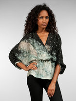 Twelfth Street By Cynthia Vincent The Golden Arrow Crossover Blouse