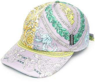 Versace Barocco Mosaic-print silk cap