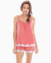 Soma Intimates Shorts Pajama Set Mod Dot Japanese Maple