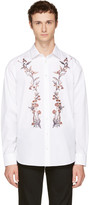 Alexander McQueen White Floral Embroidered Shirt