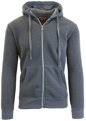 Galaxy By Harvic Men Full Zip Fleece Hooded Sweatshirt