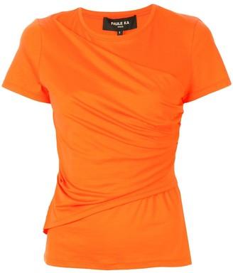 Paule Ka draped front T-shirt