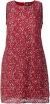 Evans **Izabel Curve Red Ditsy Floral Lace Dress