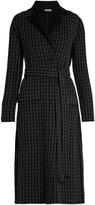 Bottega Veneta Notch-lapel checked wool and cashmere-blend coat