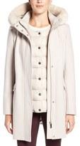 Ivanka Trump Faux Fur Trim Parka with Down Puffer Vest
