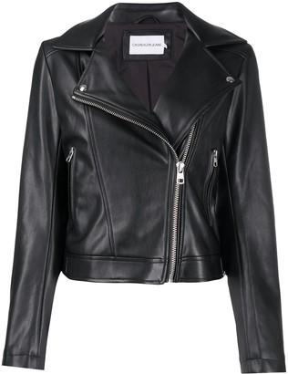 Calvin Klein Jeans Hooded Biker Jacket