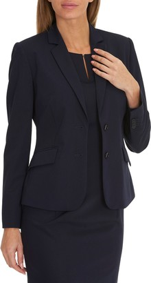 Betty & Co. Two Button Blazer, Dark Sapphire