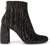 Stella McCartney Flocked Velvet Ankle Boots - Black