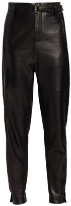 St. John Belted Leather Trousers