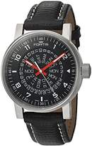 Fortis Men's 623.10.51 L.01 Spacematic Classic Black-Red Analog Display Automatic Self Wind Black Watch