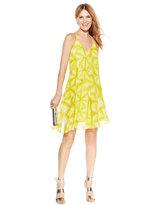 Calvin Klein Petite Printed Racerback A-Line Dress