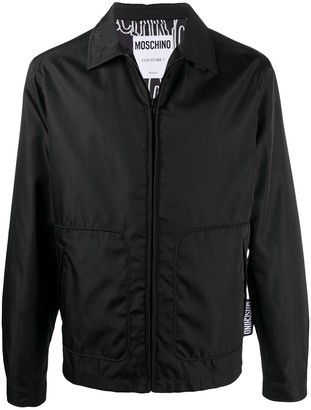 Moschino Front Zip Welt Pocket Shirt Jacket