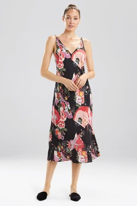 Natori Crane Floret Gown