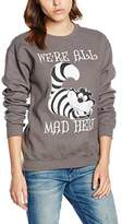 Disney Women's Alice in Wonderland We'Re All Mad Here Sweatshirt