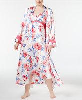 Thalia Sodi Plus Size Floral-Print Long Wrap Robe, Only at Macy's
