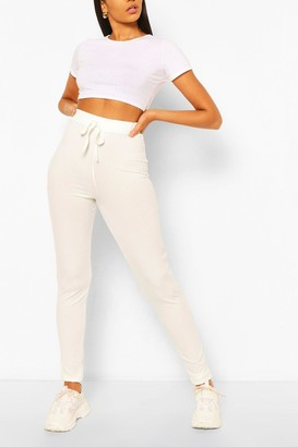 boohoo Tall High Waist Rib Leggings