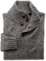 Charles Tyrwhitt Grey Mouline Button Neck Wool Sweater Size Medium