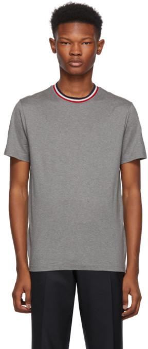 Moncler Grey Maglia Contrast Collar T-Shirt