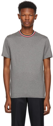 Moncler Grey Maglia Contrast Collar T-Shirt