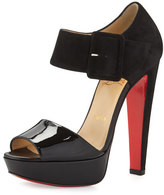 Christian Louboutin Haute Rettenue 140mm Red Sole Sandal, Black