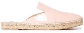 Manebi Patent-leather Espadrille Slippers