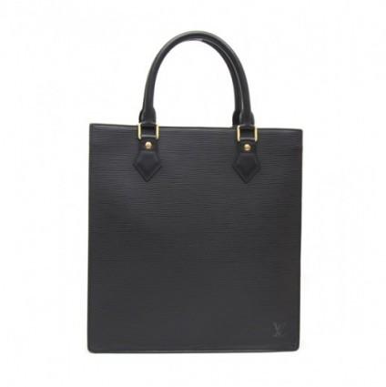 Louis Vuitton excellent (EX Black Epi Leather Sac Plat PM Bag