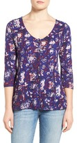 Lucky Brand Women's Floral Swing Top